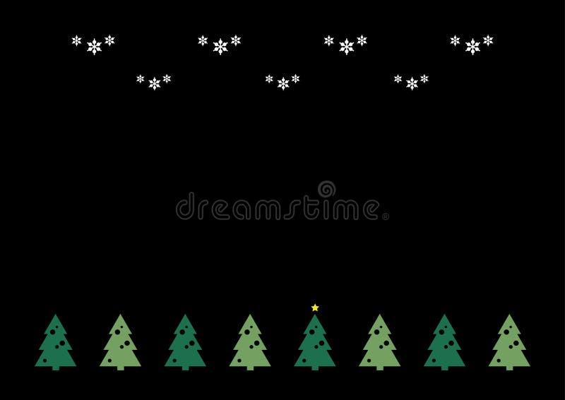 όμορφο διάνυσμα δέντρων απεικόνισης Χριστουγέννων ανασκόπησης απεικόνιση αποθεμάτων