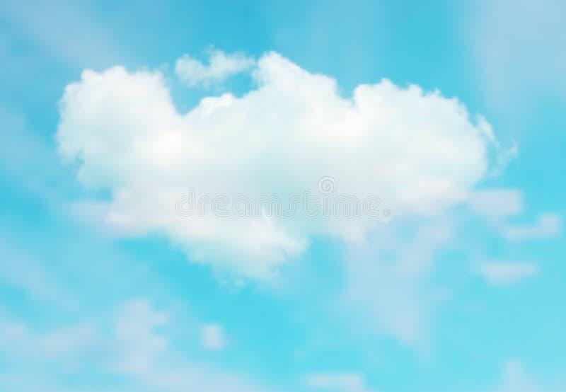 Όμορφο διάνυσμα cloudscape ελεύθερη απεικόνιση δικαιώματος