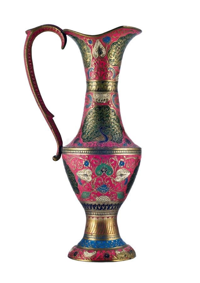 όμορφο ινδικό vase στοκ εικόνα
