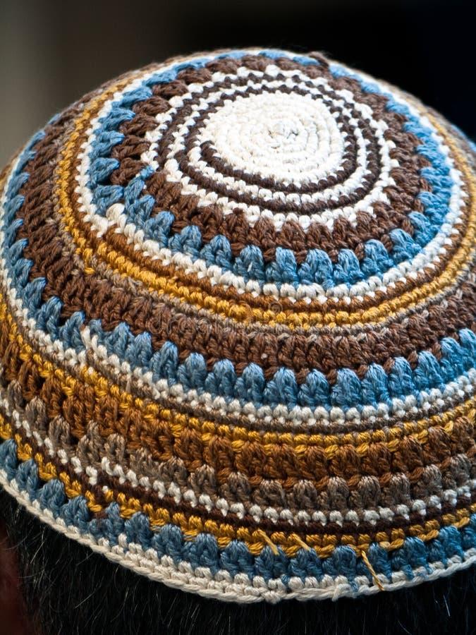 όμορφο ισραηλινό yarmulke στοκ εικόνες