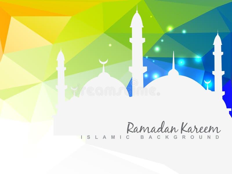 Όμορφο ισλαμικό υπόβαθρο διανυσματική απεικόνιση
