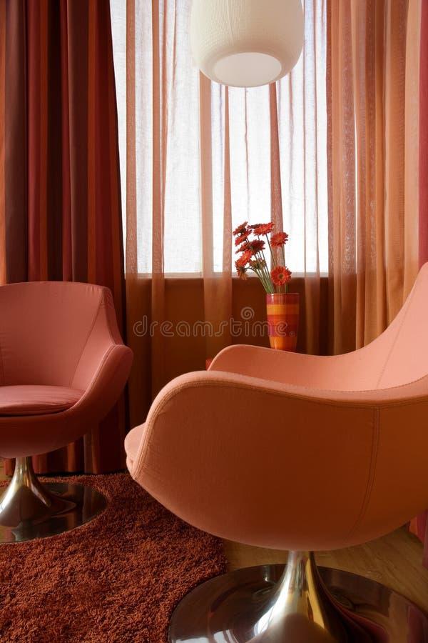 Όμορφο και σύγχρονο εσωτερικό σχέδιο καθιστικών. στοκ φωτογραφία με δικαίωμα ελεύθερης χρήσης