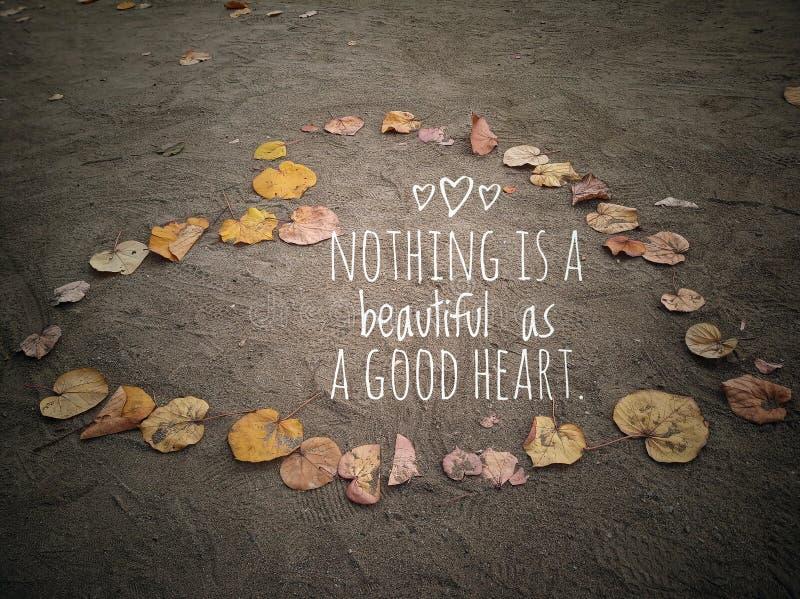 Όμορφο καλό απόσπασμα καρδιών με το σημάδι αγάπης από τα φύλλα φθινοπώρου στοκ εικόνες με δικαίωμα ελεύθερης χρήσης
