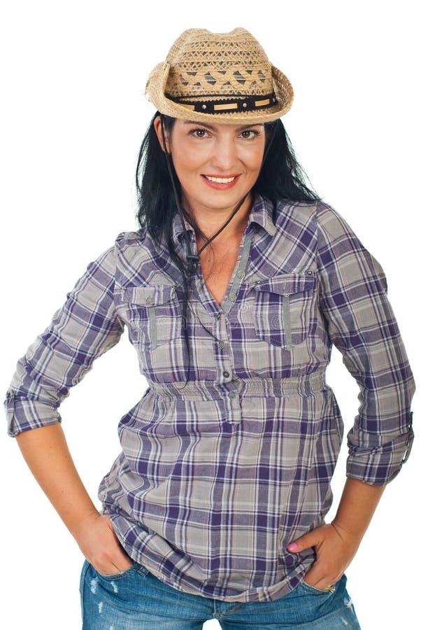 όμορφο καπέλο cowgirl στοκ εικόνες με δικαίωμα ελεύθερης χρήσης