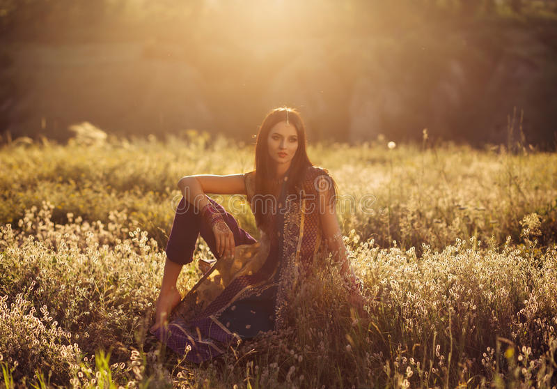 Όμορφο κορίτσι ανατολικό στοκ φωτογραφίες