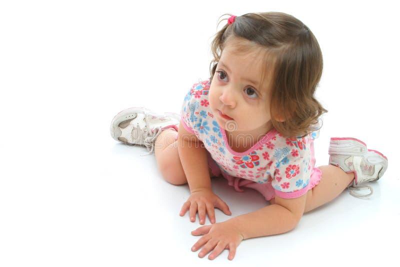 όμορφο κορίτσι πατωμάτων έκφρασης λίγα στοκ φωτογραφίες
