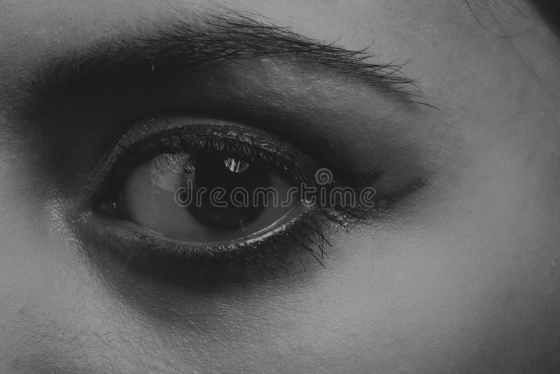 Όμορφο κορίτσι σε μια σκοτεινή ανασκόπηση στοκ φωτογραφίες με δικαίωμα ελεύθερης χρήσης