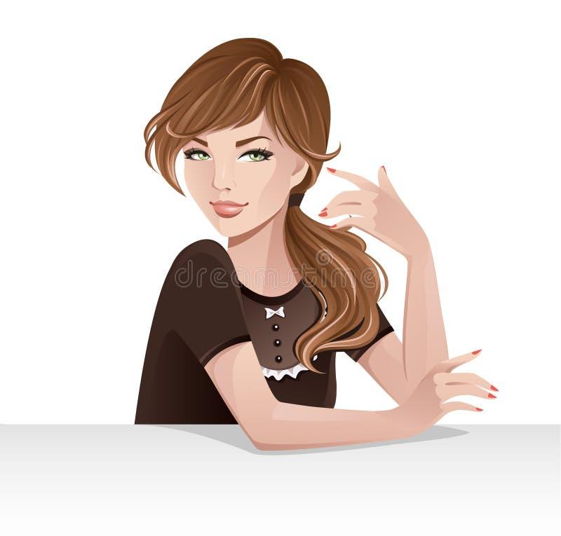 όμορφο κορίτσι απεικόνιση αποθεμάτων