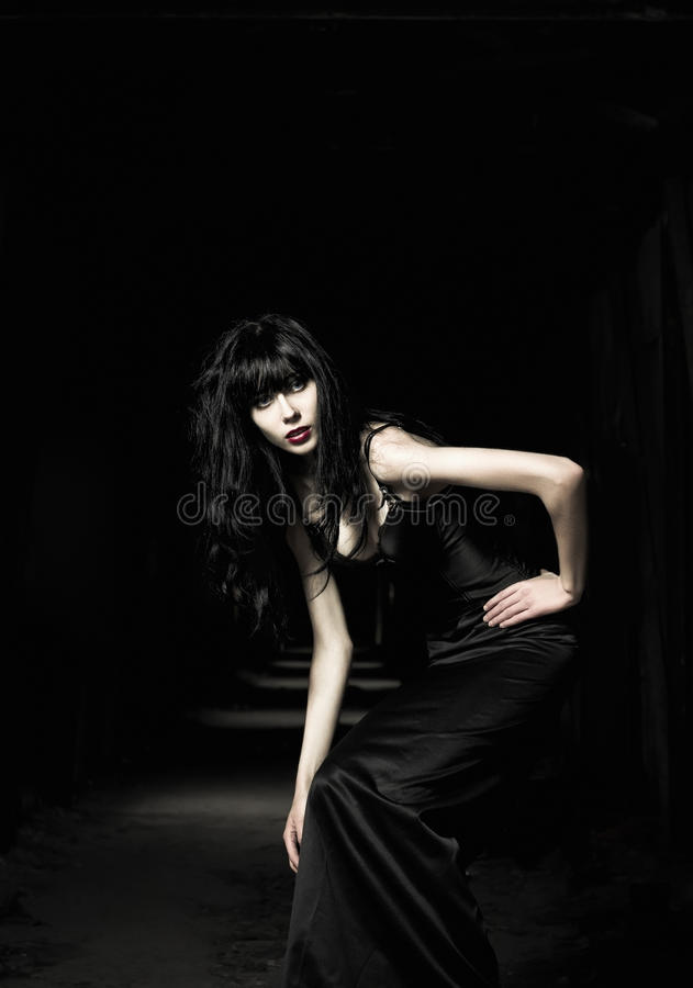 όμορφο κορίτσι goth στοκ φωτογραφίες με δικαίωμα ελεύθερης χρήσης