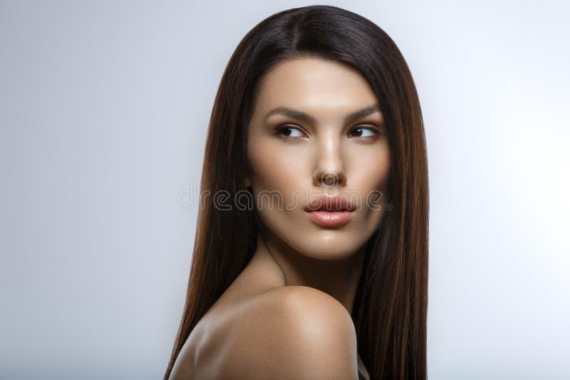 όμορφο κορίτσι makeup φυσικό στοκ φωτογραφίες με δικαίωμα ελεύθερης χρήσης