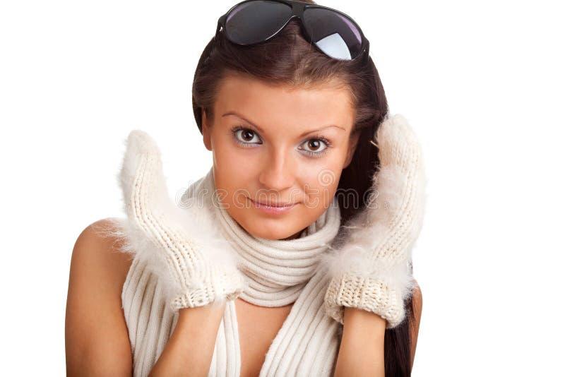 όμορφο λευκό γαντιών κορ&iota στοκ φωτογραφία με δικαίωμα ελεύθερης χρήσης