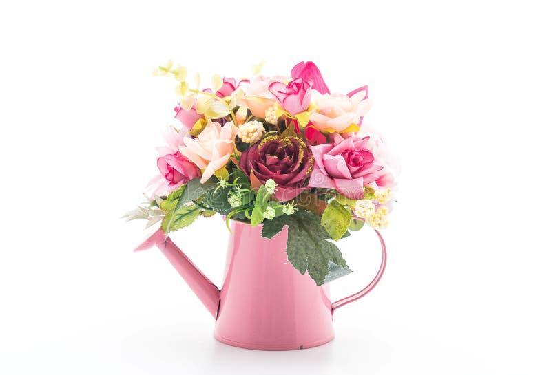 όμορφο λουλούδι ανθοδεσμών στο βάζο στοκ φωτογραφία