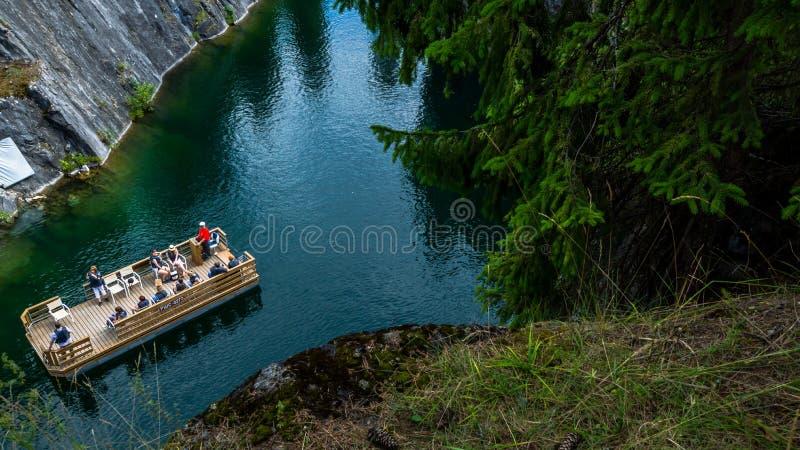 όμορφο μαρμάρινο καλοκαίρι τοπίων φαραγγιών στοκ φωτογραφίες
