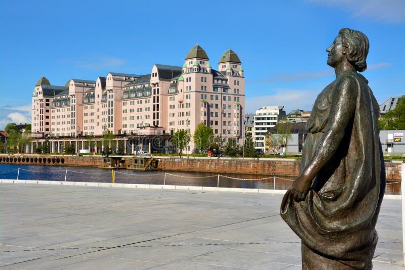 Όμορφο μνημείο στο Όσλο, Νορβηγία στοκ εικόνες με δικαίωμα ελεύθερης χρήσης