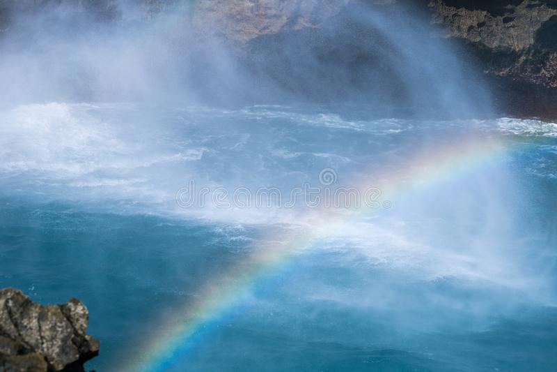 Όμορφο μπλε τοπίο νησιών ονείρου των δακρυ'ων του διαβόλου στοκ φωτογραφία