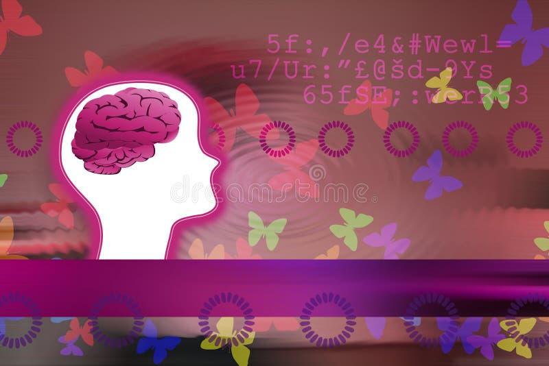 όμορφο μυαλό διανυσματική απεικόνιση
