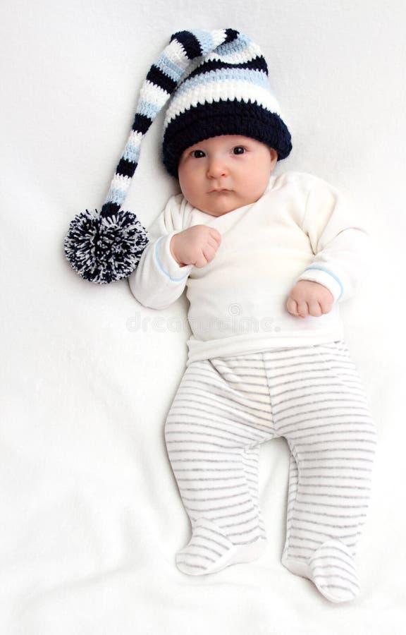 Μωρό στο καπέλο στοκ φωτογραφίες με δικαίωμα ελεύθερης χρήσης