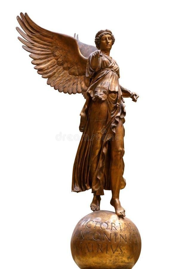 Όμορφο νέο άγαλμα αγγέλου γυναικών στο άσπρο υπόβαθρο στοκ φωτογραφίες
