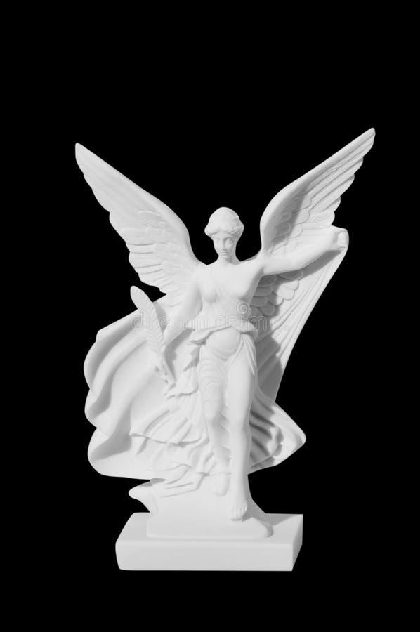 Όμορφο νέο άγαλμα αγγέλου γυναικών στοκ φωτογραφία