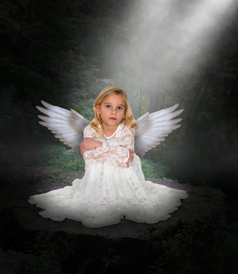 Όμορφο νέο κορίτσι αγγέλου στοκ εικόνα