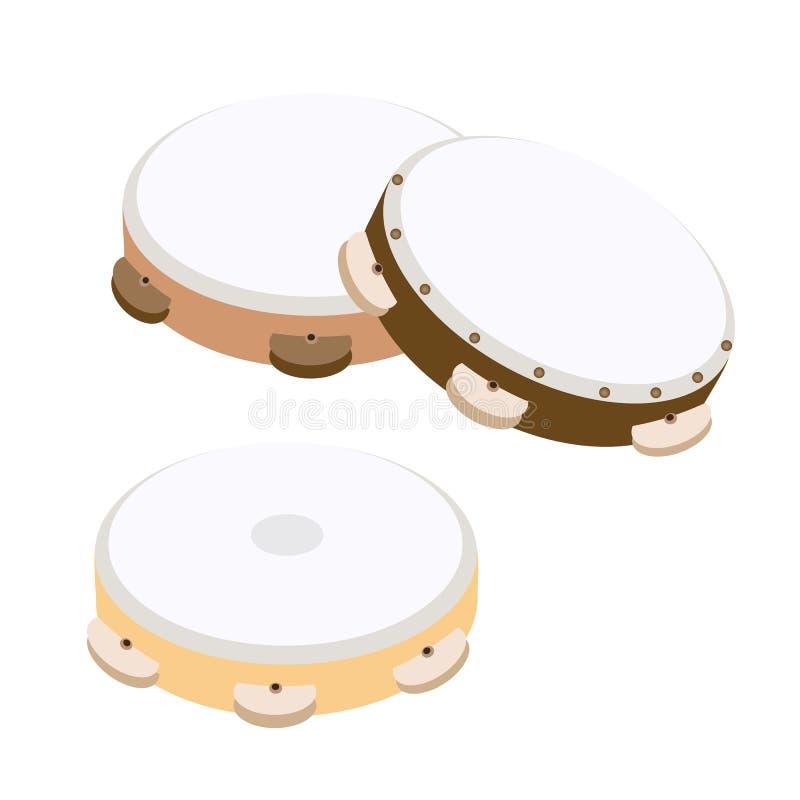 Όμορφο ξύλινο ντέφι τρία σε άσπρο Backgro απεικόνιση αποθεμάτων