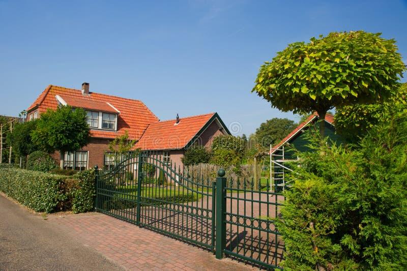 όμορφο ολλανδικό σπίτι στοκ εικόνες με δικαίωμα ελεύθερης χρήσης