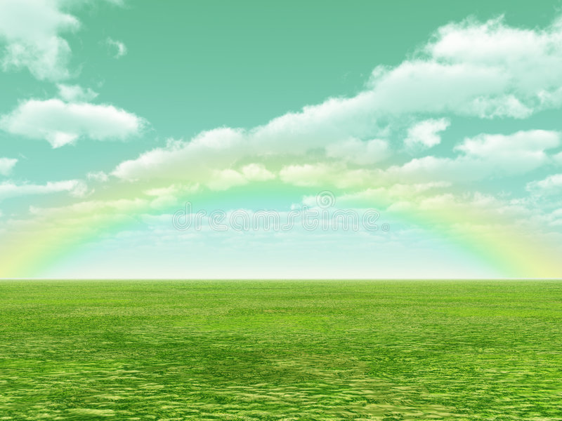 όμορφο ουράνιο τόξο διανυσματική απεικόνιση