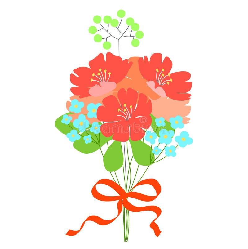 όμορφο λουλούδι ανθοδ&eps γάμος πρόσκλησης χαιρετ&iota απεικόνιση αποθεμάτων