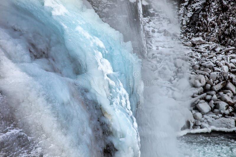 Όμορφο παγωμένο τοπίο στον καταρράκτη Krimml, Αυστρία στοκ εικόνες