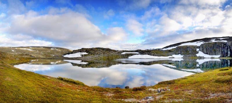 Όμορφο πανόραμα λιμνών τοπίων παγετώδες στοκ φωτογραφία με δικαίωμα ελεύθερης χρήσης
