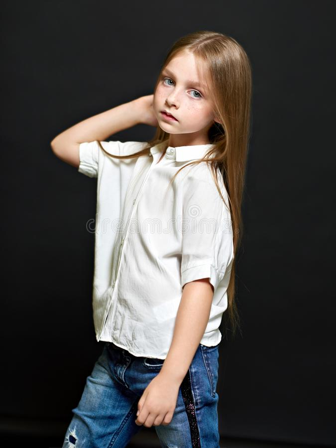 όμορφο πορτρέτο παιδιών στοκ φωτογραφία με δικαίωμα ελεύθερης χρήσης