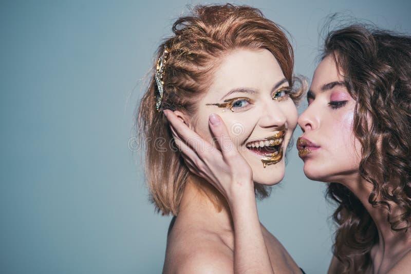 Όμορφο πρόσωπο γυναικών κραγιόν Makeup Τέλειο makeup, διάστημα αντιγράφων στοκ φωτογραφίες