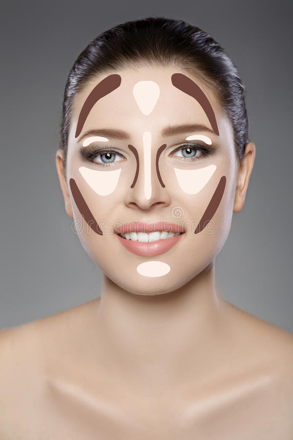 Όμορφο πρόσωπο γυναικών ` s με τα μπλε μάτια και το καθαρό φρέσκο δέρμα Πορτρέτο SPA στοκ φωτογραφίες με δικαίωμα ελεύθερης χρήσης