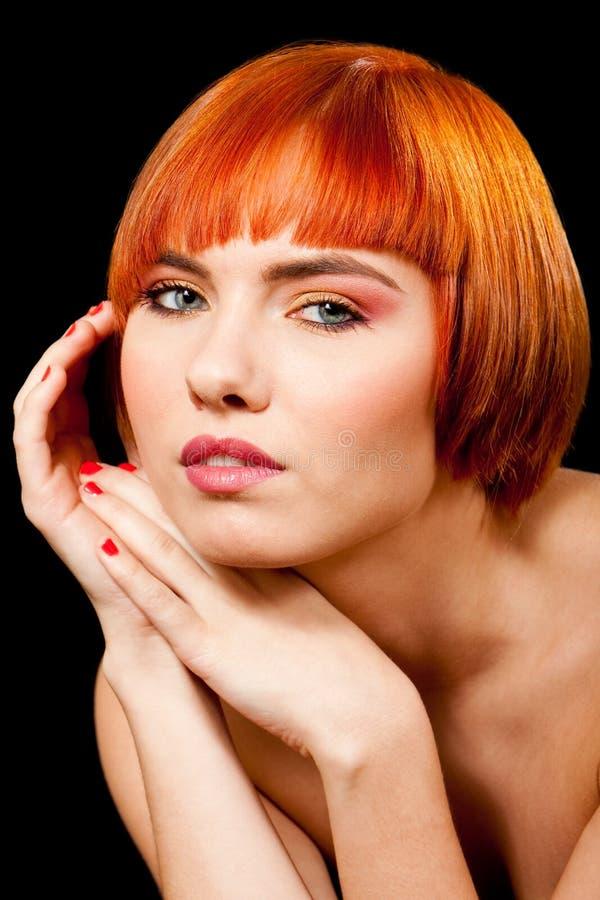 όμορφο πρόσωπο redhead στοκ εικόνα
