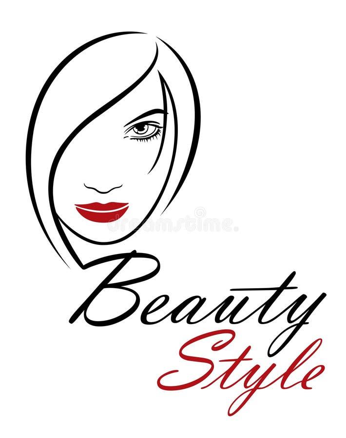 Όμορφο πρότυπο λογότυπων γυναικών διανυσματικό για το κομμωτήριο, αίθουσα ομορφιάς, καλλυντικές διαδικασίες, κέντρο SPA Διανυσματ ελεύθερη απεικόνιση δικαιώματος