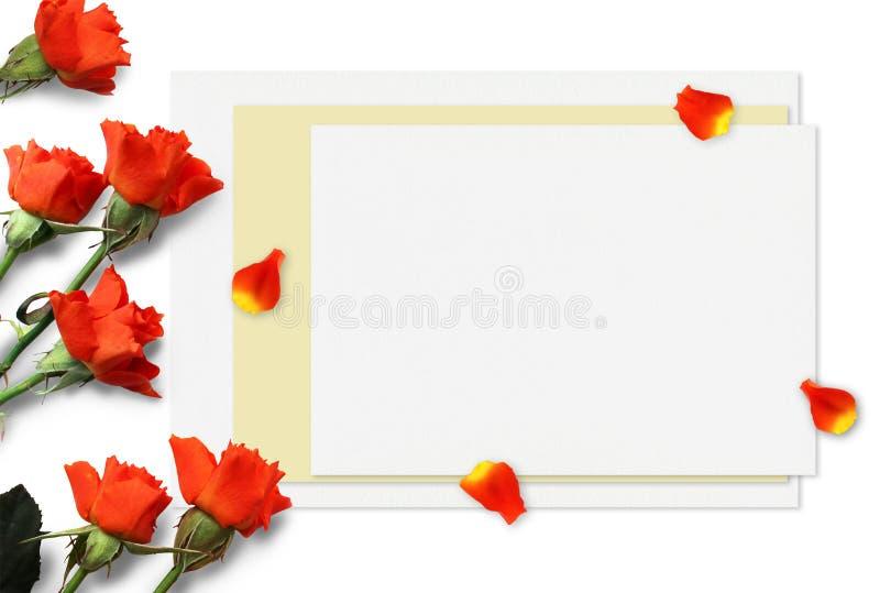 Όμορφο πρότυπο τριαντάφυλλων για τις παρουσιάσεις Τοπ άποψη εργασιακών χώρων υπολογιστών γραφείου στοκ φωτογραφία με δικαίωμα ελεύθερης χρήσης