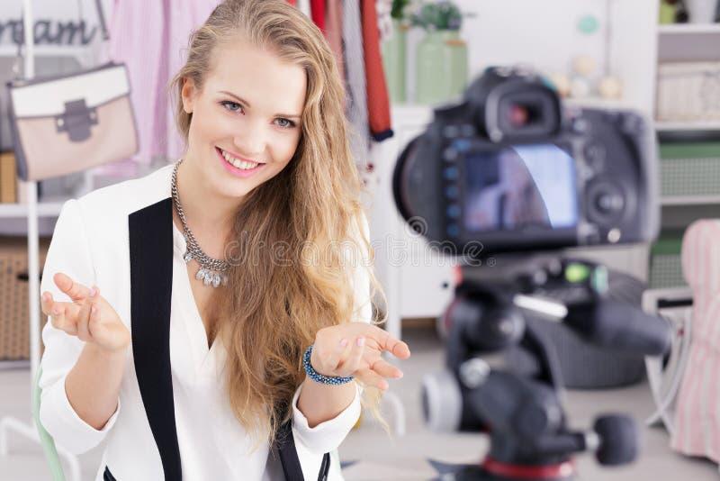 Όμορφο σεμινάριο μαγνητοσκόπησης γυναικών στοκ φωτογραφία με δικαίωμα ελεύθερης χρήσης
