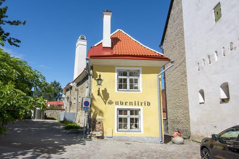Όμορφο σπίτι στην παλαιά πόλη του Ταλίν, Εσθονία στοκ εικόνες με δικαίωμα ελεύθερης χρήσης