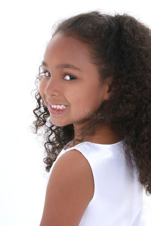 όμορφο στενό κορίτσι παλαιά έξι επάνω στο έτος στοκ φωτογραφία