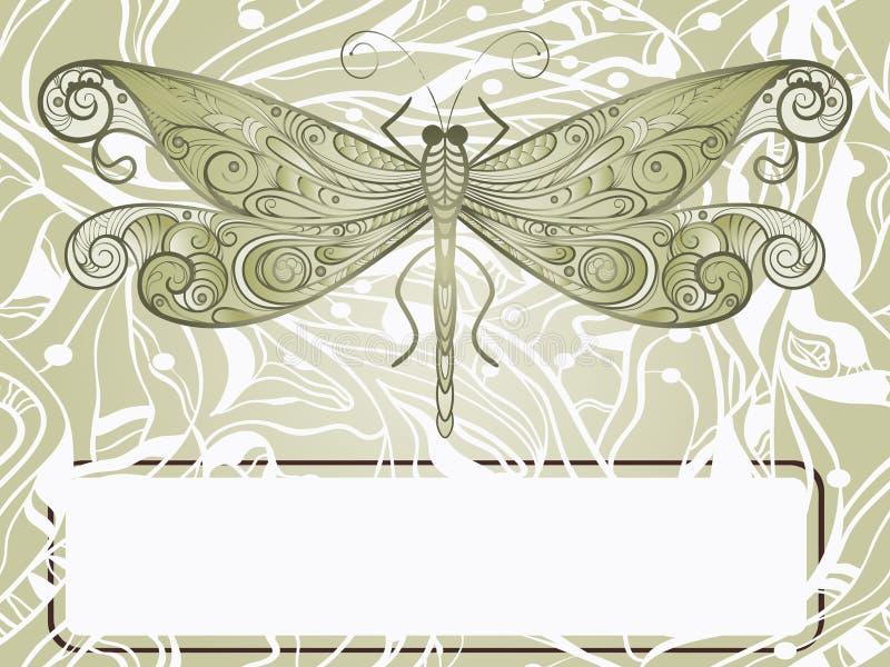 όμορφο συρμένο λιβελλού& απεικόνιση αποθεμάτων