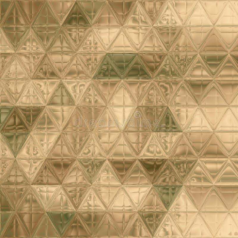 Όμορφο σχέδιο κάλυψης τριγώνων πράσινο, χακί, καφετής, ελεφαντόδοντο διανυσματική απεικόνιση