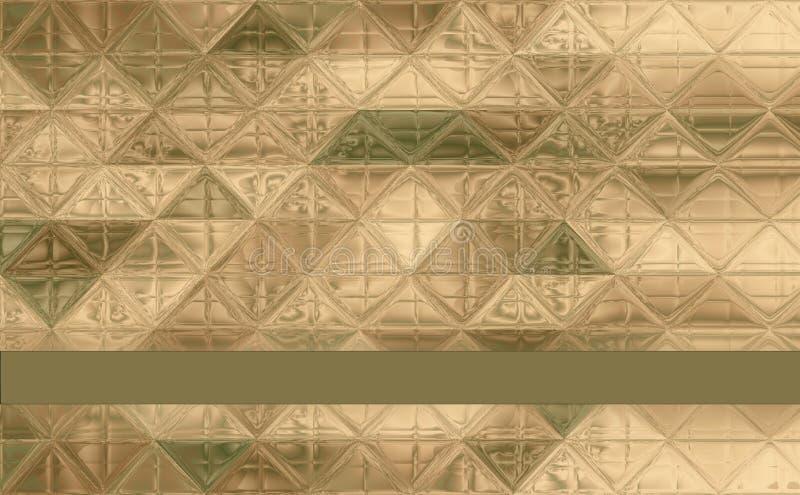 Όμορφο σχέδιο κάλυψης τριγώνων πράσινο, χακί, καφετής, ελεφαντόδοντο απεικόνιση αποθεμάτων