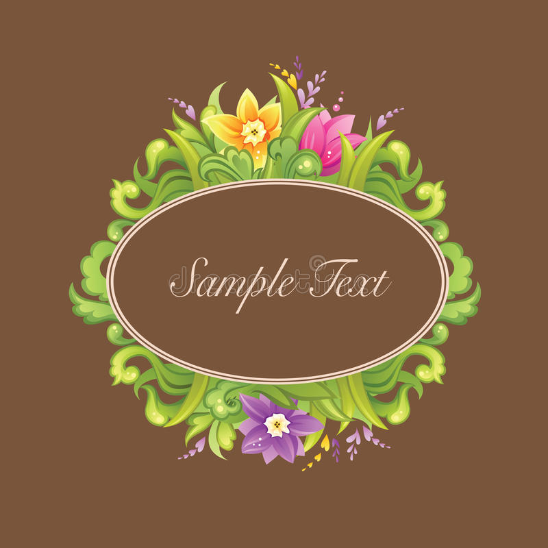 όμορφο σχέδιο κύκλων floral διανυσματική απεικόνιση