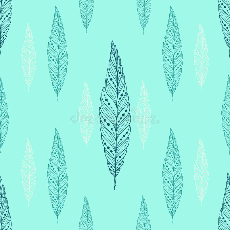 Όμορφο σχέδιο φτερών άνευ ραφής στοκ εικόνες