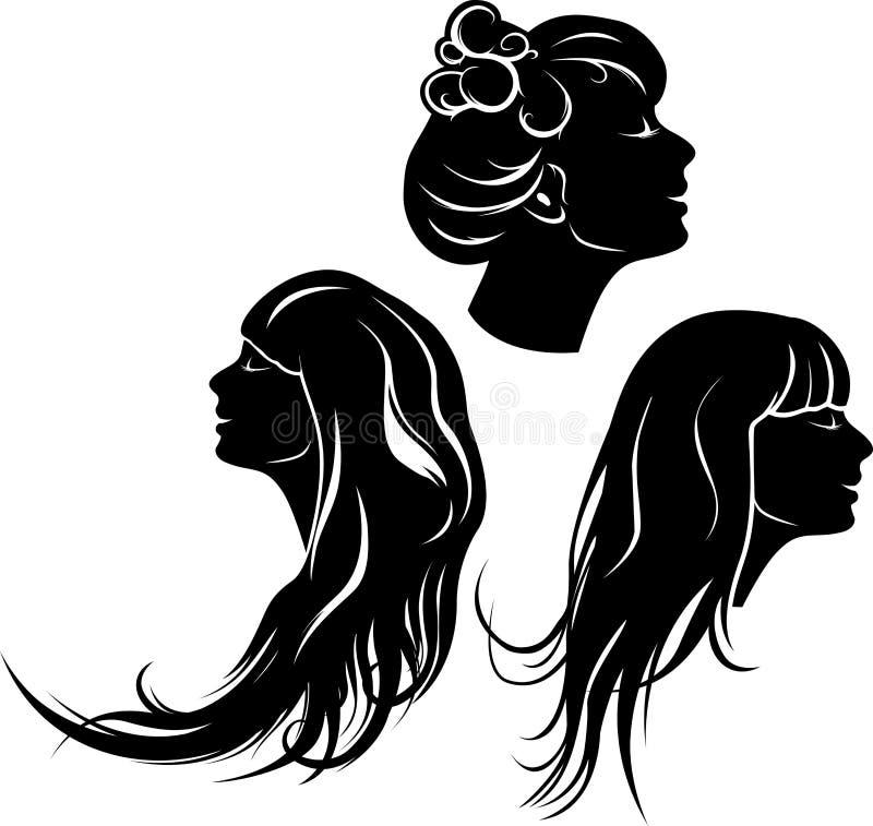 Όμορφο σχεδιάγραμμα κοριτσιών διανυσματική απεικόνιση