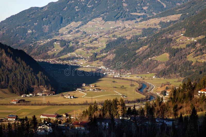 Όμορφο τοπίο βουνών σε Zell AM Ziller, Αυστρία στοκ εικόνες με δικαίωμα ελεύθερης χρήσης