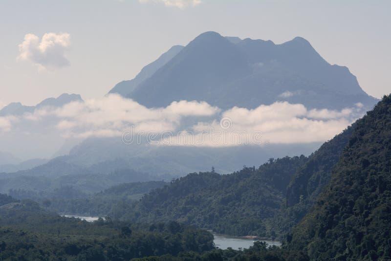 Όμορφο τοπίο επαρχίας του βόρειου Λάος στοκ εικόνα με δικαίωμα ελεύθερης χρήσης