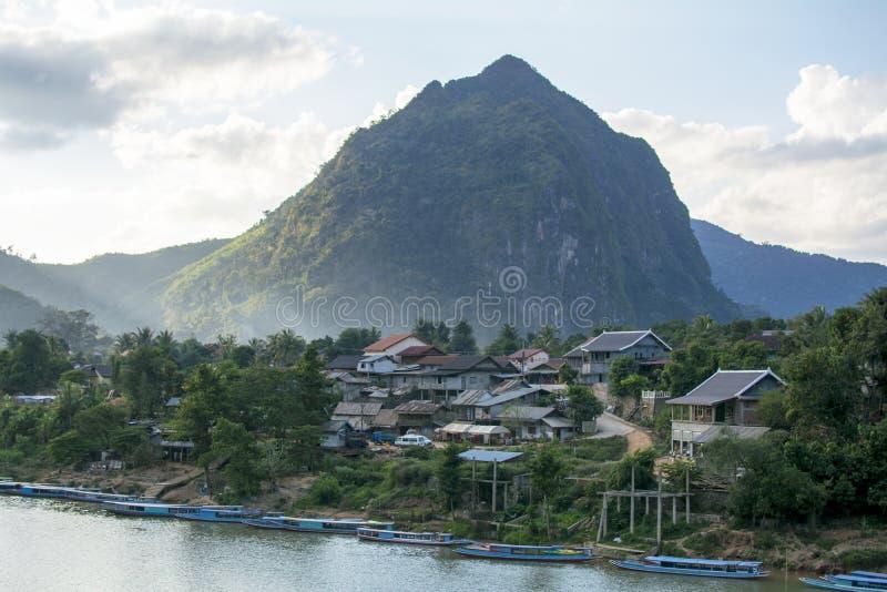 Όμορφο τοπίο επαρχίας του βόρειου Λάος στοκ φωτογραφία με δικαίωμα ελεύθερης χρήσης