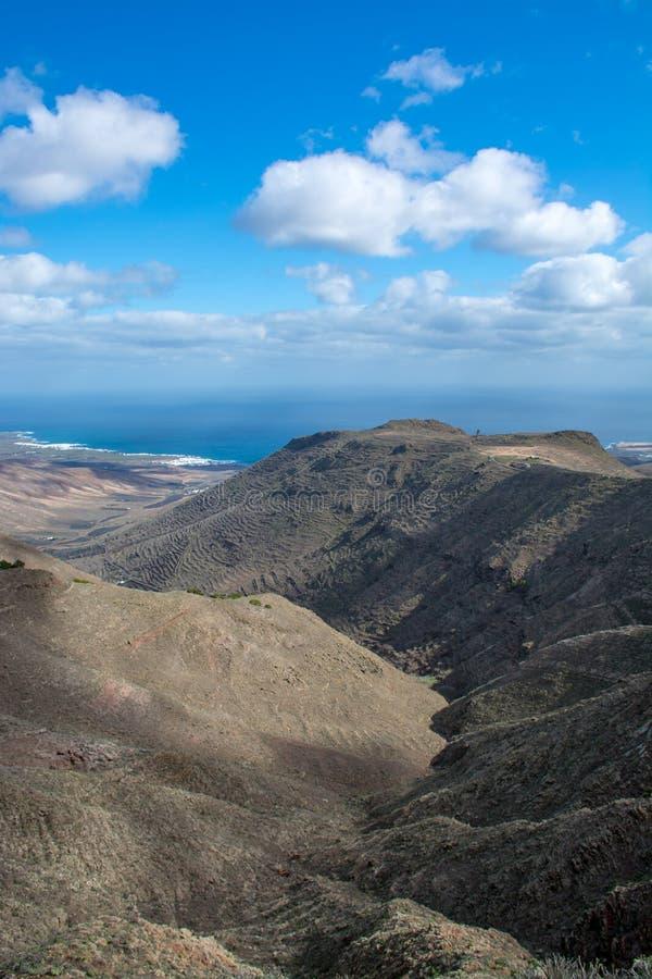 Όμορφο τοπίο νησιών Lanzarote, καναρίνι, Ισπανία στοκ εικόνα με δικαίωμα ελεύθερης χρήσης