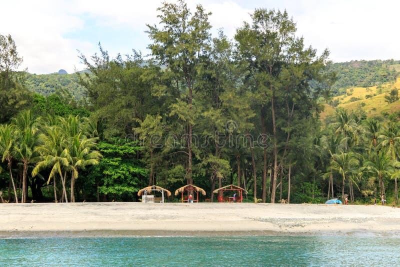 Όμορφο τοπίο στην παραλία της Ζάμπάλες στοκ εικόνες